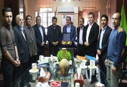 دیدار اعضای هیئت فوتبال لارستان با شهردار و رییس شورای اسلامی شهر لار