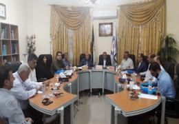 اعضای اتاق اصناف لارستان در صحن شورای شهر لار حضور یافتند
