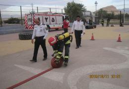 آتش نشانان لارستان آمادگی و توان خود را برای زمان عملیات محک زدند
