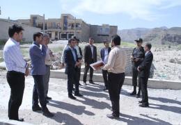 بازدید میدانی شهردار لار و اعضای شورای تامین شهرستان لارستان از حوضه آبریز تنگ اسد