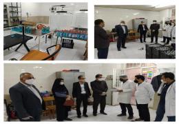 بازدید شهردار  و اعضای شورای اسلامی شهرلار از شرکت تولید کننده مایع ضدعفونی در لارستان